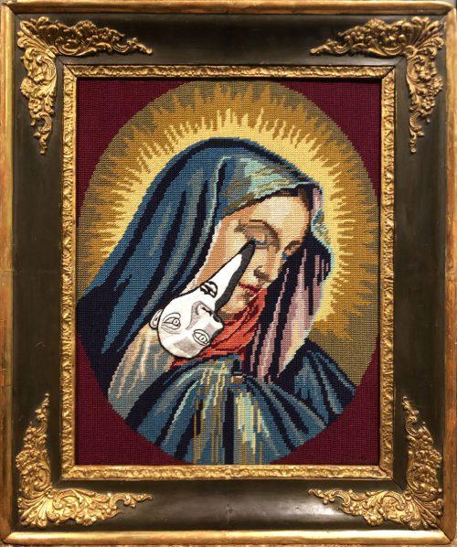 Madonna piangente con lacrima cubista